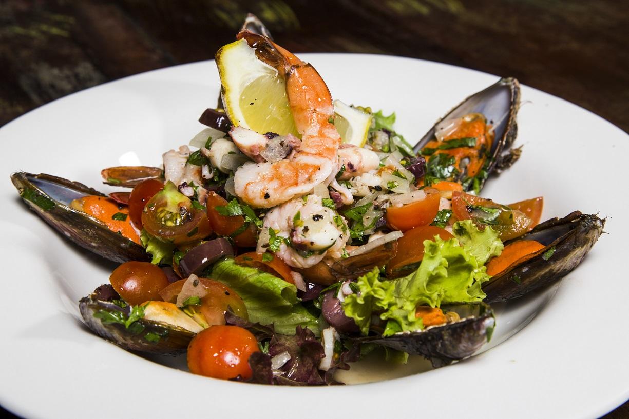 Salada de frutos do mar | FOTO: Paulo Romão